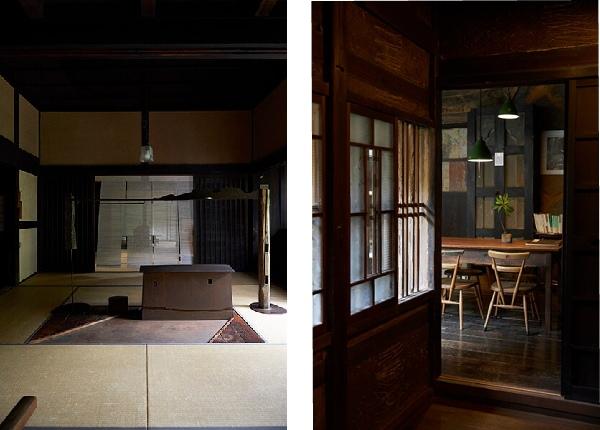 古くからあるものを生かし、新しい空間によみがえらせた内装