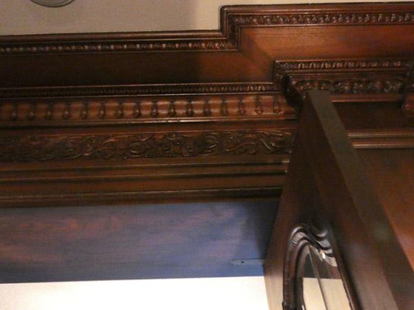 なんと談話室の一部の模様に、大山崎名物のタケノコが!