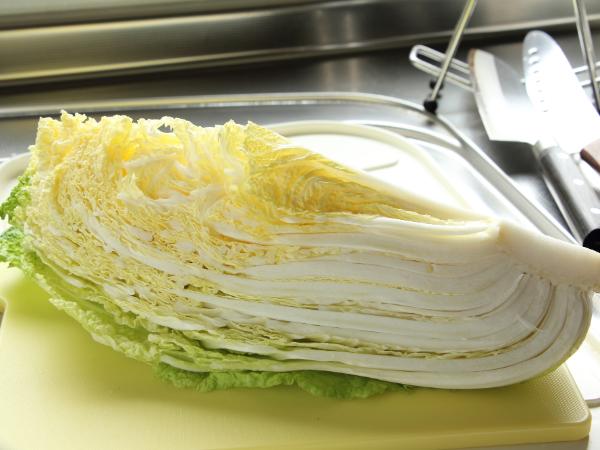 白菜の冷凍保存の仕方