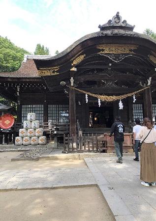 武田神社でお参りしました