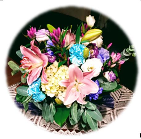 古希のお祝いに娘たちから贈られた花