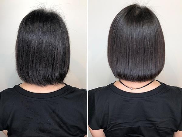 素髪東京で施術後の髪