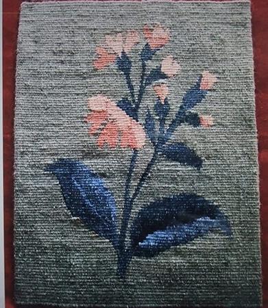 初めて織ったゴブラン織り