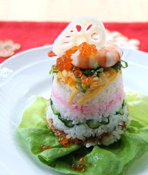 ひな祭りの簡単レシピ「段々お寿司」の作り方