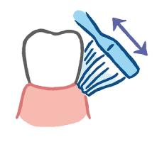 歯ブラシでの磨き方