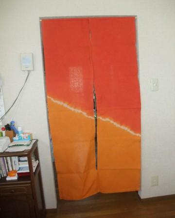 楽しい空間を演出するキッチンの暖簾