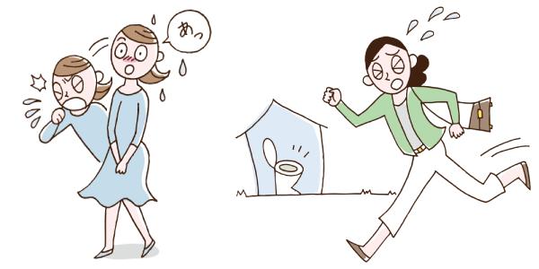 腹圧性尿失禁タイプと切迫性尿失禁の違い