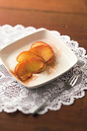 リンゴのシナモンソテー