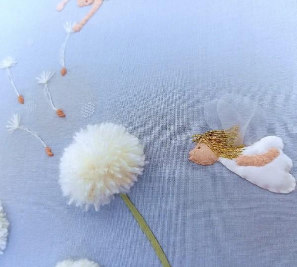 タンポポの綿毛と天使