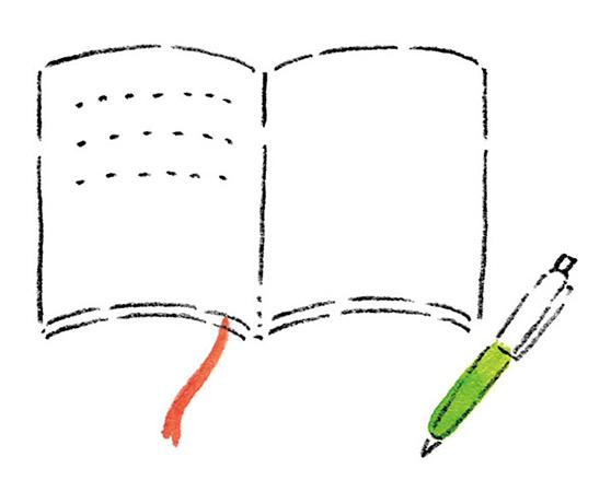 自律神経を整えるアイデア4:毎晩、 3行日記をつける