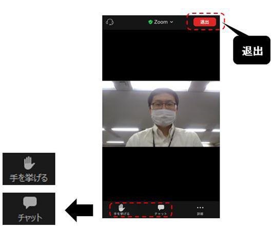 ウェビナー視聴中の操作方法