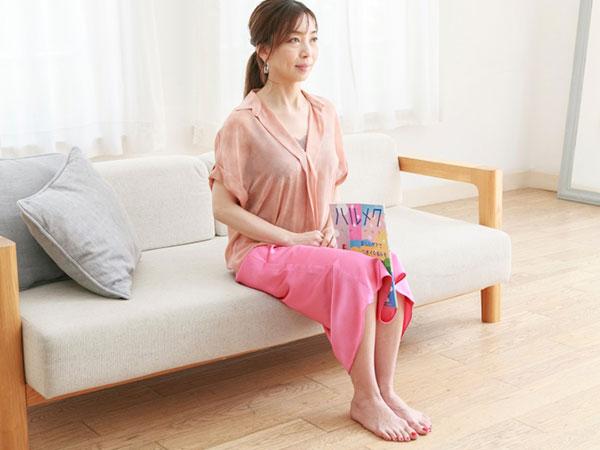 【ながら運動2】CM中は雑誌を挟んで脚痩せ