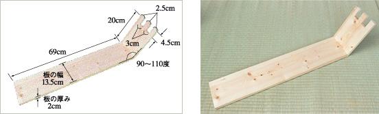 布草履を作る木の台