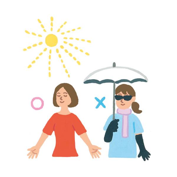 原因4:過度な日焼け対策によるビタミンD不足