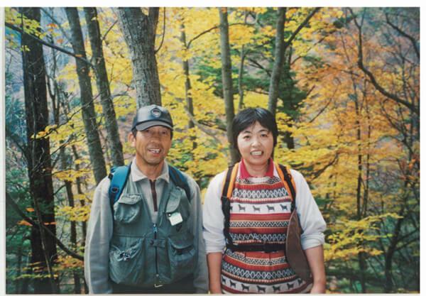 """夫とは""""仲良し夫婦""""。休日はよく登山を楽しんでいた"""