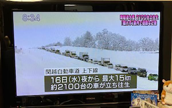 関越道の豪雪被害