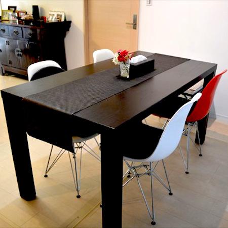 ダイニングテーブルのアフター写真:モノがない「更地」になってスッキリ