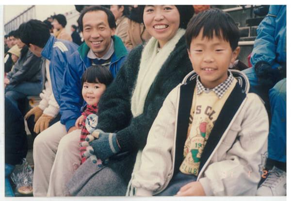 上京後の家族写真