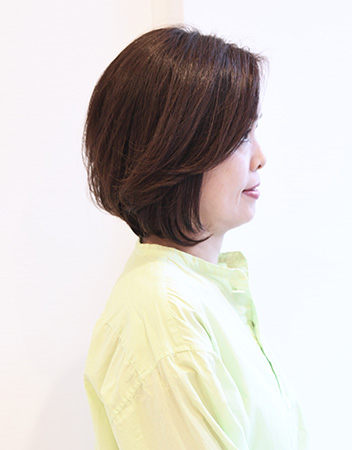 50代髪型ヘアカタログ:ミディアム(サイド)