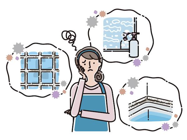 お風呂の3大汚れ!皮脂汚れ・カビ・水垢の原因と発生場所