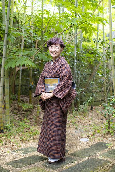 江波戸玲子さんの着物の着こなし