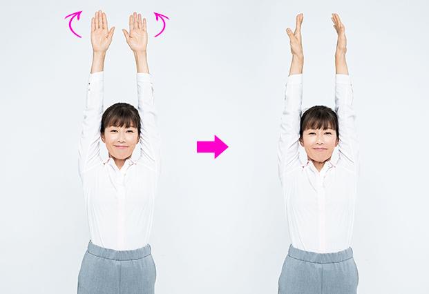 たるみを取るくるくる耳たぶ【ステップ1】肩回りをゆるめるやり方2