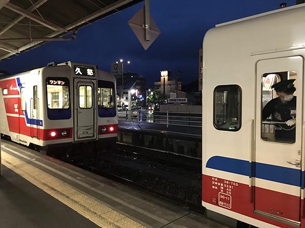 宮古駅に到着
