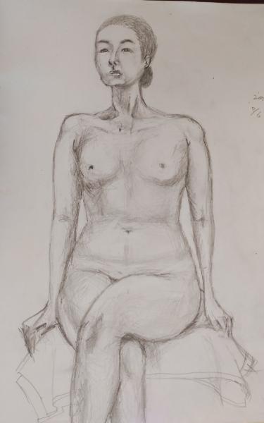 裸婦のデッサン