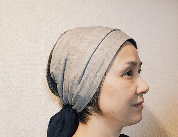 モデル青木沙織里さんが愛用するターバン