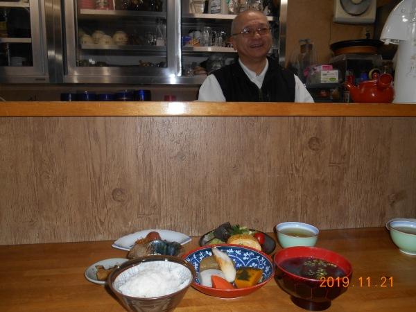 宿のご主人と手作り夕食