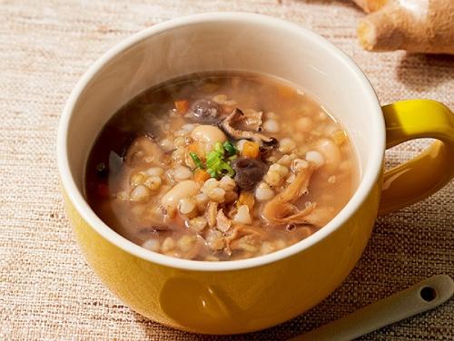 ハルメク 生姜香る そばの実ときのこの食べるスープ